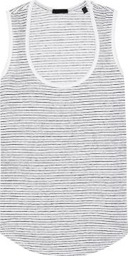 Atm Anthony Thomas Melillo , Linen Sleeveless Top