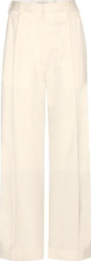 Hillier Bartley , Cropped Wide Leg Wool Trousers