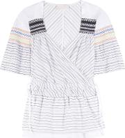 Peter Pilotto , Tone Smocked Cotton And Silk Top
