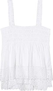 Tory Burch , Georgette Cotton Top