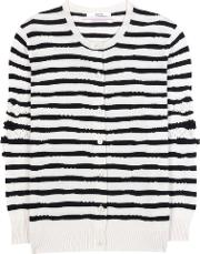 Barrie , Striped Cashmere Cardigan