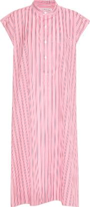 Balenciaga , Striped Cotton Dress