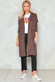 Nasty Gal , Checking Us Out Duster Coat