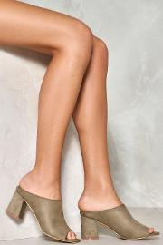 Nasty Gal , Got It Covered Vegan Suede Mule