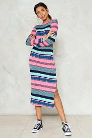 Nasty Gal , It's A Fine Line Knitted Maxi Dress