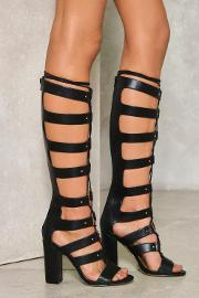 Nasty Gal , Poison Lace Up Gladiator Heel