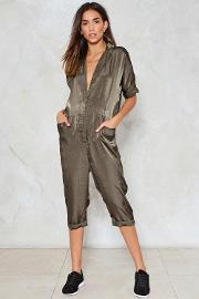 Nasty Gal , Relaxed Satin Jumpsuit