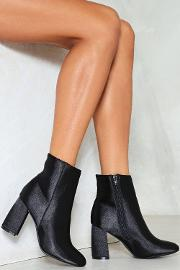 Nasty Gal , Satin Ankle Bootie