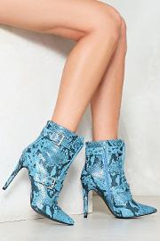 Nasty Gal , Snake My Day Lace Up Bootie