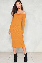 Nasty Gal , Totally Into It Off The Shoulder Dress