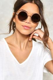 Nasty Gal , Two Of A Kind Circle Shades