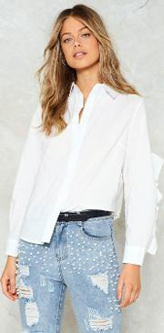 Nasty Gal , Thrilled To Sleeve You Ruffle Shirt