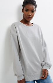 New Look , Pale Grey Balloon Sleeve Sweater