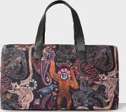 Paul Smith , Men's Canvas And Leather 'monkey' Print Holdall