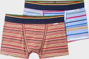 Paul Smith , Boys' 7 Years Mixed Stripe Boxers Two Pack