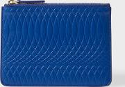 Paul Smith , No.9 Blue Leather Zip Pouch