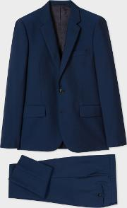 Paul Smith , The Soho Men's Tailored Fit Blue Wool Mohair Suit