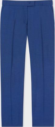 Paul Smith , Women's Slim Fit Indigo Wool Mohair Trousers