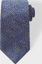 Paul Smith , Men's Navy 'floral Petals' Embroidered Silk Tie