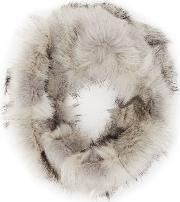 Reiss , Chester Tipped Faux Fur Snood In  Womens