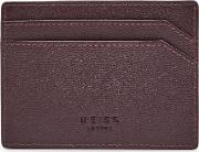 Reiss , Jacob Grained Leather Card Holder In  Mens