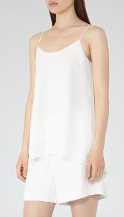Reiss , Eve Layered Cami In White, Womens