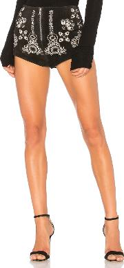 Understated Leather , X Revolve Embroidered Suede Short