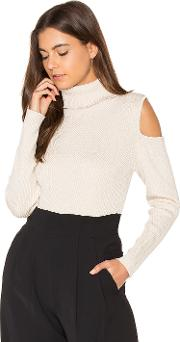 525 America , Cut Out Ribbed Turtleneck Sweater