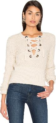 525 America , Lace Up Sweater