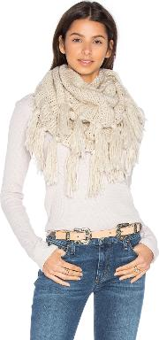 Hat Attack , Fringe Double Loop Scarf