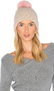 Hat Attack , Rib Watch Beanie With Knit Pom