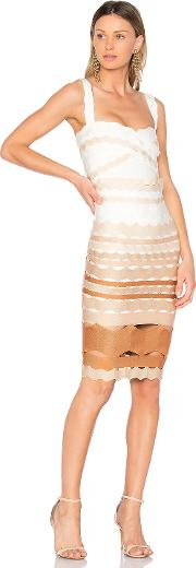 Lolitta , Leticia Zig Zag Fitted Midi Dress