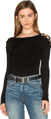 1 State , Criss Cross Shoulder Sweater