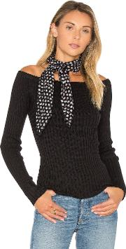 1 State , Off The Shoulder Long Sleeve Sweater