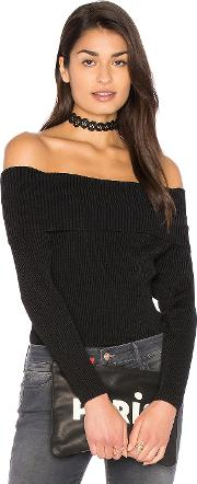 525 America , Off Shoulder Ribbed Sweater