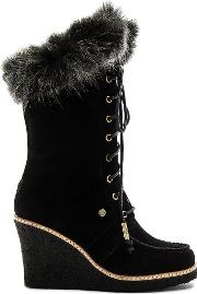 Australia Luxe Collective , Mandinka Boot With Faux Fur Cuff