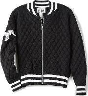 Autumn Cashmere Kids , Quilted Bomber Jacket