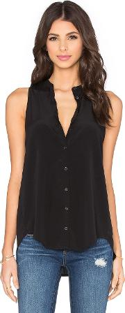 Bella Luxx , Pleat Back Button Up Tank