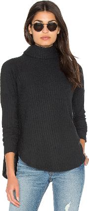 Bella Luxx , Plush Rib Funnel Neck Pullover Sweater