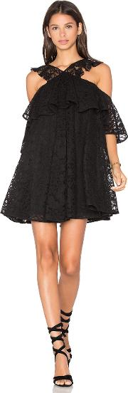 Cynthia Rowley , Lace Cold Shoulder Mini Dress