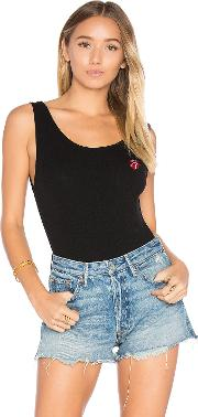 Daydreamer , Rolling Stones Embroidery Bodysuit