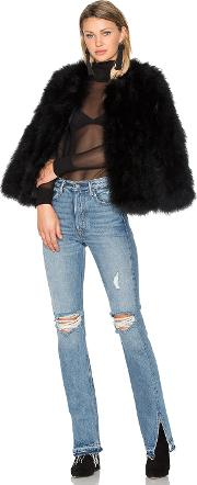Eaves , Delilah Ostrich Feather Jacket