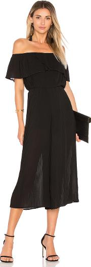 Endless Rose , Pleated Off Shoulder Jumpsuit