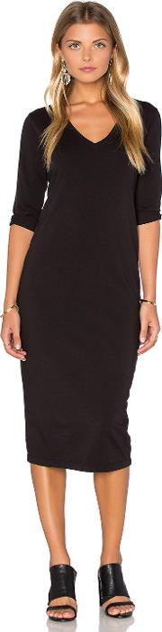 Michael Stars , 34 Sleeve V Neck Midi Dress