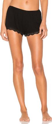 Only Hearts , Feather Weight Rib Lace Trim Sleep Shorts
