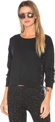 Ragdoll , Lace Up Crop Sweatshirt