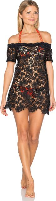 Sauvage , Off Shoulder Italian Lace Dress