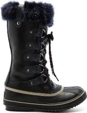 Sorel , Joan Of Arctic Obsidian Boot With Faux Fur