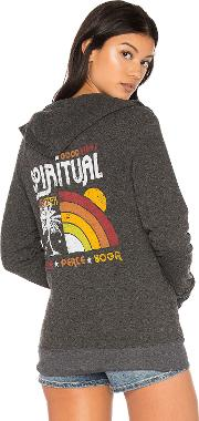 Spiritual Gangster , Rainbow Sunset Sweatshirt