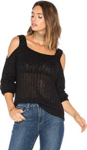 Endless Rose , Cut Out Shoulder Long Sleeve Top